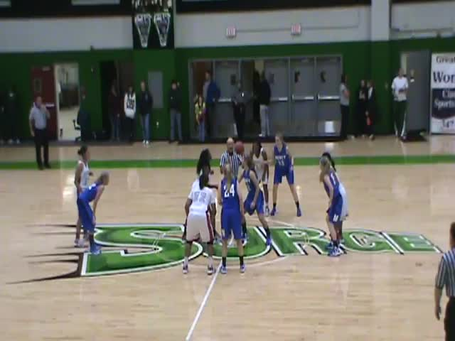Pictured here is the beginning of tip off from the first game last year.