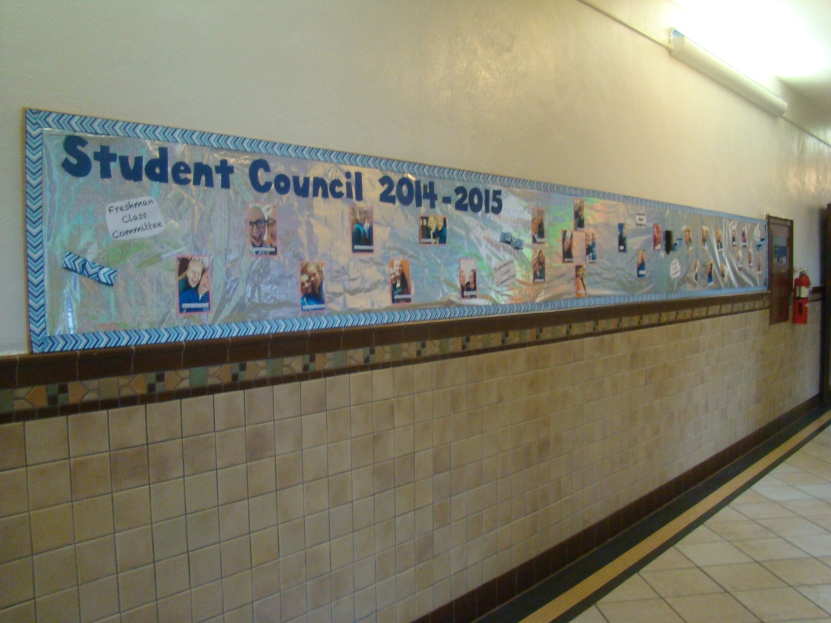 The student council even had a board to show all of its members! Photo courtesy Lindsay Eichhold