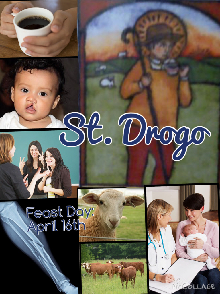 Maria Busken '17 aspires to be a doctor, so she chose St. Drogo, the patron of the sick and deformed. Busken remarks that she admires Drogo's love of god even in the midst of sickness. Photo courtesy Maria Busken '17