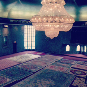 One of the amazing parts of the Mosque was the huge chandelier