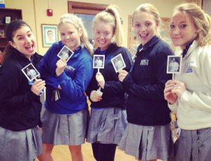Juniors pose with their Flat Francis