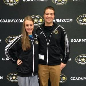 Thomas Unger (La Salle '14 and All-American alum) poses with me in our matching USAAAMB hoodies!