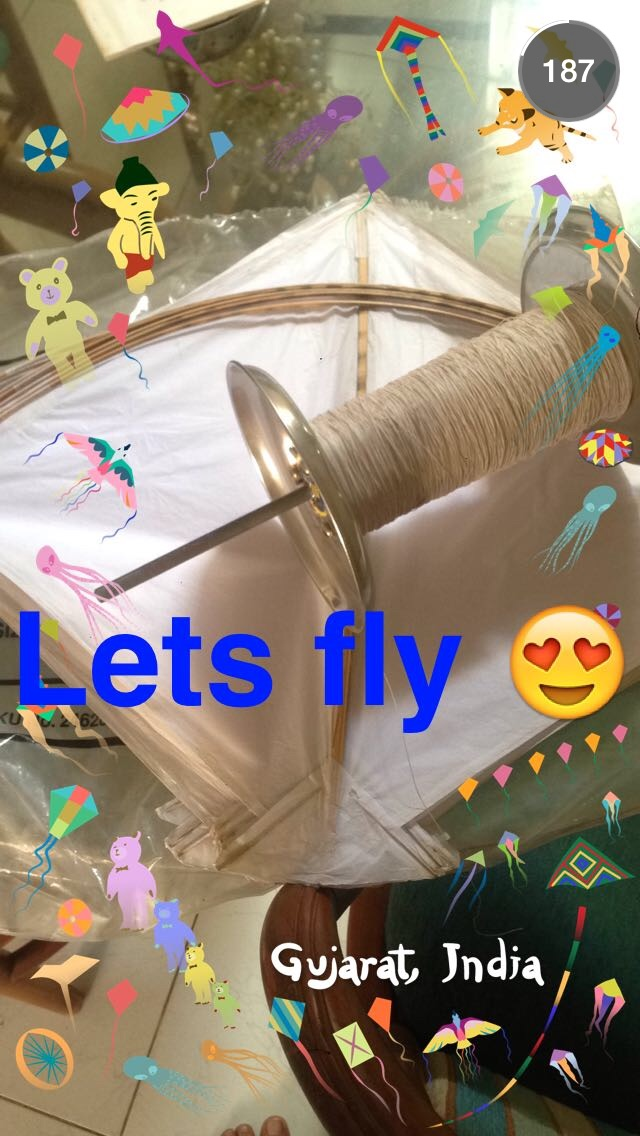 A kite of someone who is very excited about flying. Photo courtesy to Snapchat