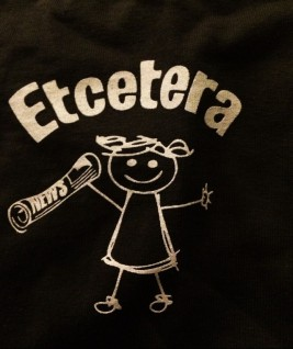 The Etcetera girl is happy because we love journalism. (photo courtesy Becca Rhein '15)