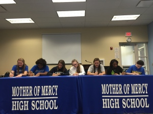 Signing the official letter of intent.