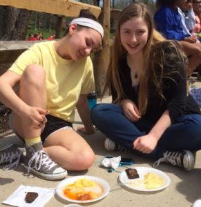 Juniors posing with their delicious food. (Photo courtesy: Bridget class of '16).
