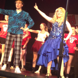 Sharpey Evans (Makenzie Nevil) and Ryan Evans (Natalie Stgeorge) during bop to the top.