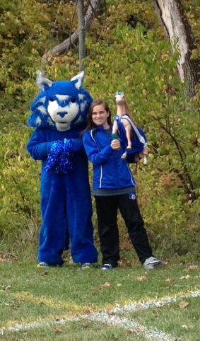Even the Mercy Bobcat loves cross country