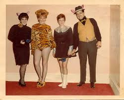 I'm sure we've all seen these costumes one time or another, 1960 is when Halloween started getting friendly and wild. This era is when Halloween parties began to sweep the nation and the costumes were more revealing, funny, and playful.