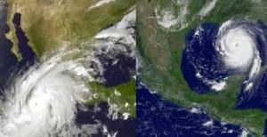 View of Hurricane Patricia from above.