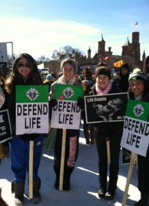 Mercy students at 2014 Life March