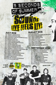 Full list of the North American tour dates for Sounds Live Feels Live