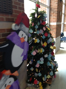 Make sure you grab an ornament off the tree and complete the task on the ornament to help spread the Christmas Cheer!