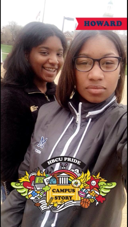 Me and my friend Kiyah on campus. Photo credits to myself.
