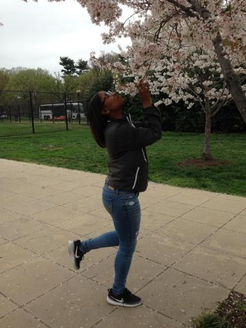 Smelling the Cherry Blossoms on Easter. Photo credits to me